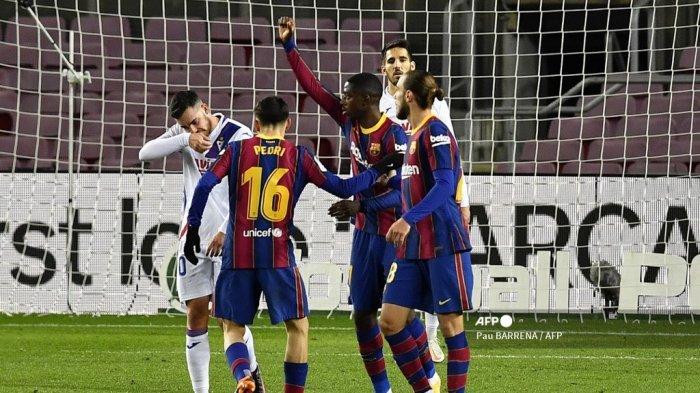 Tampil Sebagai Pemain Pengganti Dembele Selamatkan Barcelona dari Kekalahan HASIL Liga Spanyol